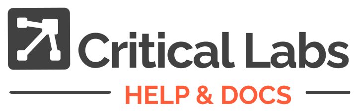 Help & Docs | Critical Labs